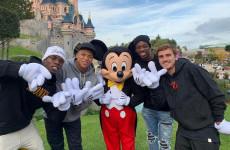 Paul Pogba, Antoine Griezmann, Ousmane Dembele dan Kylian Mbappe Bersua Mickey Mouse