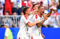 Serbia 1-0 Kosta Rika: Tendangan Bebas Aleksandar Kolarov Tundukkan Los Ticos
