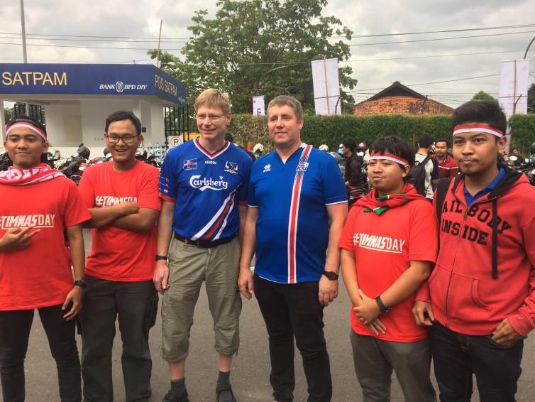 Suporter Islandia Datang Langsung ke Stadion Maguwoharjo