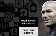 Bersama Madrid, Zizou Raih Pelatih Terbaik FIFA 2017