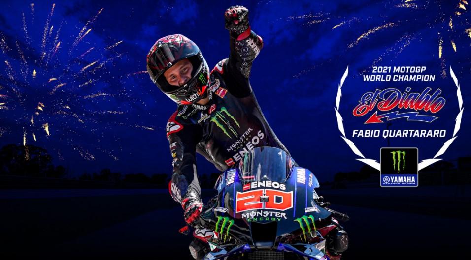 MotoGP Emilia Romagna: Bagnaia Terjatuh, Quartararo Kunci Gelar Juara Dunia