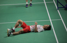 Galeri Foto: Perjuangan Luar Biasa Tim Bulu Tangkis Beregu Putra Indonesia di Final Asian Games 2018